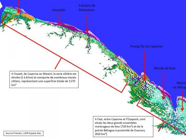 Zone côtière de Guyane