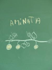 Dessin d'une Maracudja réalisé par une élève de l'école primaire de Talwuen